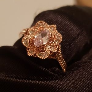Retro style Ring Rose gold gold color